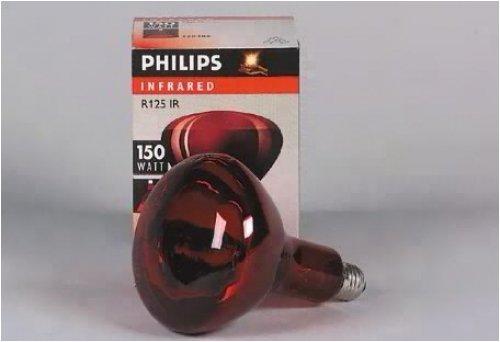 PHILIPS-LICHT Infrarotstrahler 150W E27, R125, rot IR