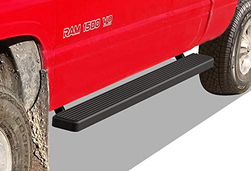 APS iBoard Running Boards (Nerf Bars Side Steps Step Bars) Compatible with 1994-2001 Dodge Ram 1500 Club Cab & 1994-2002 Ram 2500 3500 (Exclude 02 Body Style Sold in 2001) (Black Powder Coated 5in)