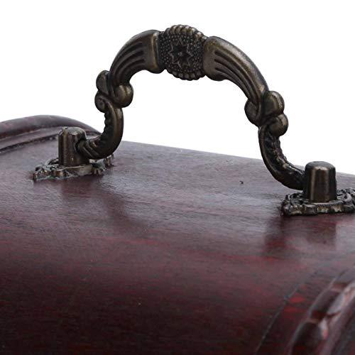 Estuche de almacenamiento vintage, exquisito joyero de moda para joyería para tienda de relojes para amantes de la joyería para el hogar(6003B-03DH10-Red-Large+Code Lock, blue)