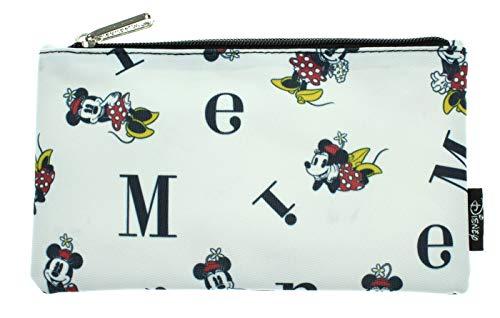 Disney Minnie Mouse Pencil Case Pouch Holder Letters Print