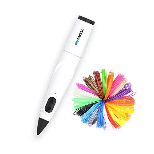 Myriwell 3D Pen Professioneller kreativer 3D-Druckstift mit 10 Farben PCL-Filament-3D-Zeichenstift, festlichen kreativen Weihnachtsspielzeugen/Kindergeburtstagsgeschenken