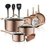 Best Pots And Pans Sets - NutriChef 14-Piece Nonstick Cookware PTFE/PFOA/PFOS-Free Heat Resistant Lacquer Review