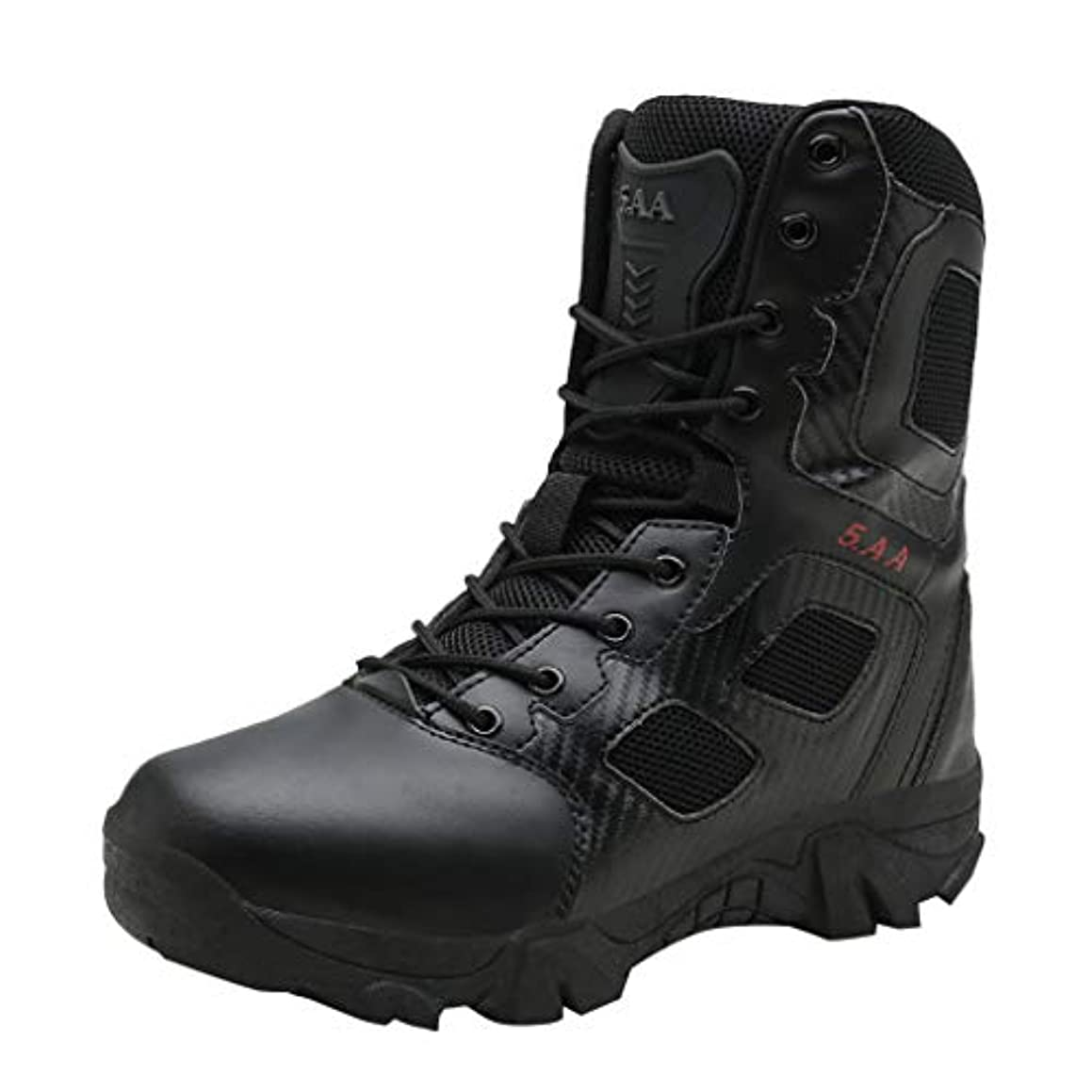 JJLIKER Men's High-Top Outdoor Military Tactical Ankle Boots Non-Slip Ultra Combat Mid Hiking Shoes