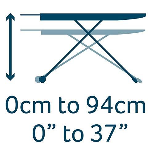 Minky Marine Bügelbrett, Familiengröße, Stahl, Weiß und Blau, 114 x 38 cm - 5