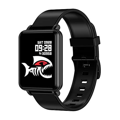 ZOZIZZ Smart Watch, Detector de Ritmo cardíaco de la presión Arterial Toque Fitness Fitness Fitness Mensaje IP68 Impermeable para Android y iPhone Teléfono,A