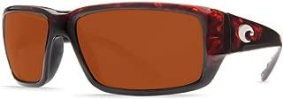 Costa Del Mar Sunglasses - Fantail- Plastic / Frame: Tortoise Lens: Polarized Copper 580P Polycarbonate