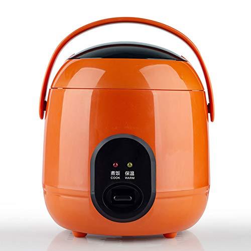 DEAR-JY Cuiseur à Riz avec Vapeur,1.2L Mini Autocuiseurs électriques appropriés pour 1~2 Personnes,Pot intérieur antiadhésif,Fonction de Maintien au Chaud,200W Petits appareils de dortoir,Orange