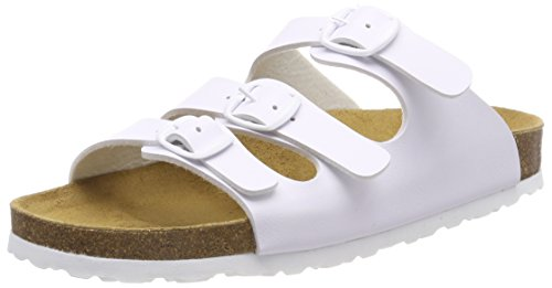 Lico Bioline Classic, Mules para Mujer, Blanco (Weiss Weiss), 38 EU