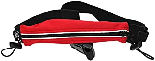 SPIbelt Running Belt, Holds Energy Gels, Water-Resistant Race Bib Toggles, iPhone 6 7 8-Plus X, Made in USA - Men & Women, Reflective Trim, One Size, Expandable, No-Bounce Waist Pack, Endurance Series