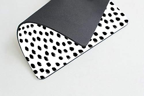 Smooffly Polka Dots Gaming Mouse pad Cuscom,Brush Strokes Dots Personality Desings Rectangle Non-Slip Rubber Mousepad 9.5 X 7.9 Inch (240mmX200mmX3mm) Photo #3