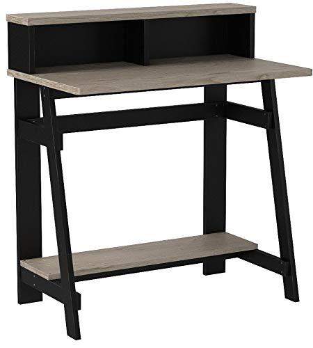 Furinno 14054BK/GYW Simplistic a Frame Computer Desk, Black/Oak Grey