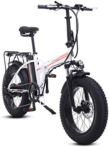 Alta velocidad Bicicletas eléctricas rápida for adultos de 20 pulgadas bicicleta eléctrica, aleación de aluminio plegable bicicleta eléctrica de montaña con Asiento trasero abierto, 500W del motor, la