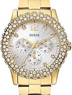 GUESS Women U0335L2 Gold-Tone Multi-Function Watch with Genuine Crystal-Accented Case