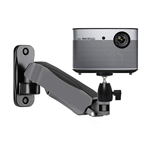 Atriles para proyectores Soporte de montaje del proyector, montaje de un solo brazo ajustable de altura, girar 360 grados de flexible, soporte de montaje de proyector de pared de pared Soportes para p