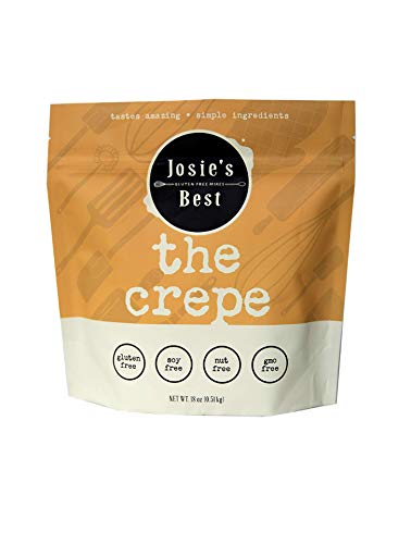 Josie's Best Crepe Mix (Gluten Free, Soy Free, Nut Free, GMO Free) tastes amazing | simple ingredients 18oz.