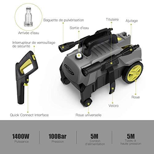 Nettoyeur haute pression, Autlead Professional nettoyeur haute pression HP03B(1800Watt,...