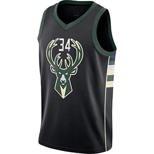 N&G SPORTS Giannis Antetokounmpo,Basketball Player Jersey,Milwaukee Bucks Jsersey,Fans Jsersey,Breathable Quick Drying Vest,Children Men,Competition Equipment