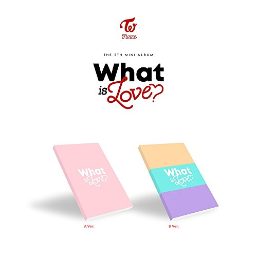 Two - What Is Love? [Zufällige Ver.] Mini-Album, CD + Fotokarten, Aufkleber, Vorbestellvorteil, gefaltetes Poster + Gratis Geschenk
