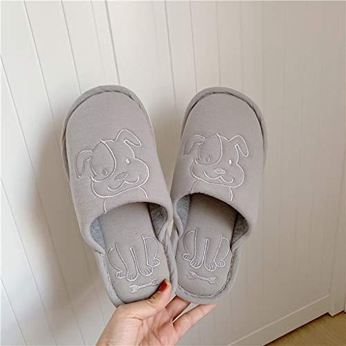 KFDS Tier Slippers - Nette Hundehausschuhe, Damenschuhe Hausschuhe for Indoor Outdoor (Color : Gray-A, Size : EUR38-39)