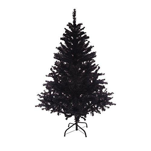 DP-Tech 180 cm 580 Spitzen künstlicher Weihnachtsbaum Tannenbaum Christbaum in schwarz inkl. Metallfuß Christbaumständer