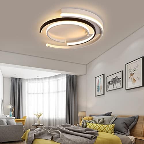 Lámpara LED de techo para sala de estudio, cocina, salón, escalera, comedor, lámpara de techo en forma de espiral, decorativa, de acrílico, regulable, diseño moderno, iluminación interior,