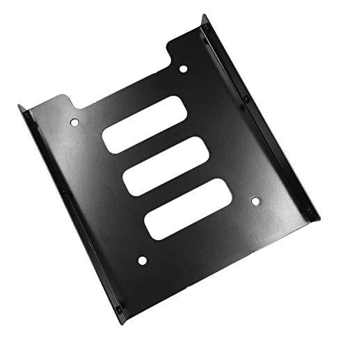 Dpatleten Profesional 2.5 Pulgadas a 3.5 Pulgadas SSD HDD Adaptador de Metal Rack Disco Duro Soporte de Montaje SSD para PC Negro