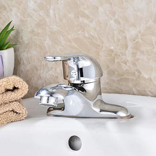Koper warm en koud eenhands dubbel gat twee spoelbak bad balkon boven de wastafel waterkraan