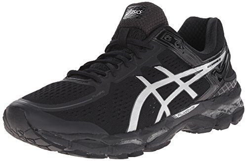 ASICS Men's Gel Kayano 22 Running Shoe, Onyx/Silver/Charcoal, 8 M US