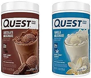 Quest Protein Powder 2-Pack: 1.6 Pound Vanilla and Chocolate Bundle