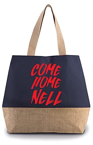 Hippowarehouse Come Home Nell Premium reusable eco friendly 100% cotton tote shopper bag for life 40cm x 53cm x 15cm
