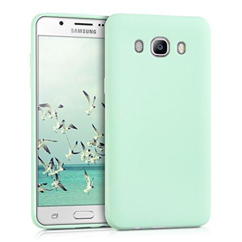 kwmobile Carcasa para Samsung Galaxy J5 (2016) DUOS - Funda para móvil en TPU Silicona - Protector Trasero en Menta Mate