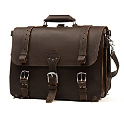 Picture of the Saddleback Leather Large Classic Briefcase, one the biggest and best brief cases for lawyers