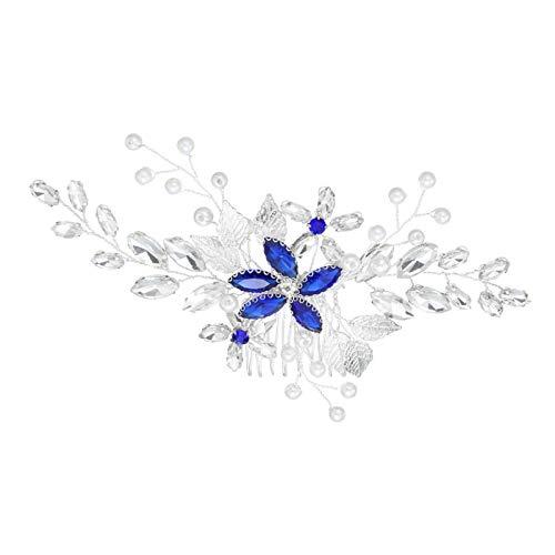 Wehgeg - Peineta para novias con cabeza de cristal
