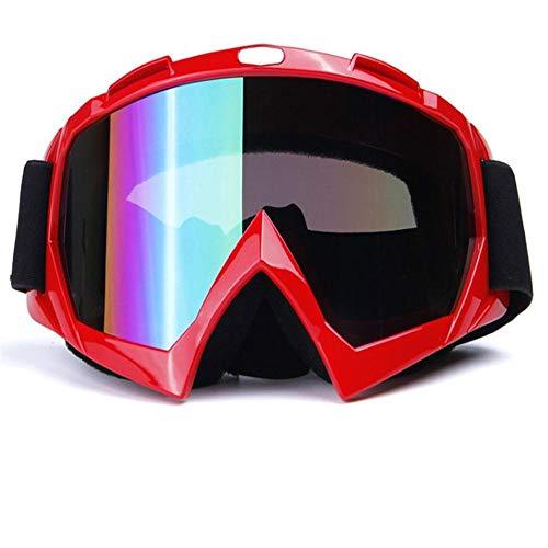 CSXM SkibrilleMänner Frauen Snowboard Skibrille UV400 Winddichte Sonnenbrille Sportbrille Maske Skifahren Schneemobil Brillen Anti-Fog Single Lens-B