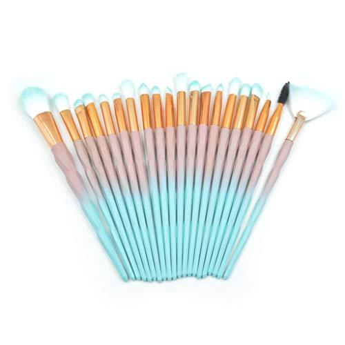 IFOUNDYOU Make Up Pinsel 20-Tlgs Schmink Pinselset Etui Schmink Kosmetik Lidschatten Gesichtspinsel Augenpinsel