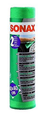 Sonax 416.541 Chiffons Microfibre Plus intérieur & vitres 2pcs