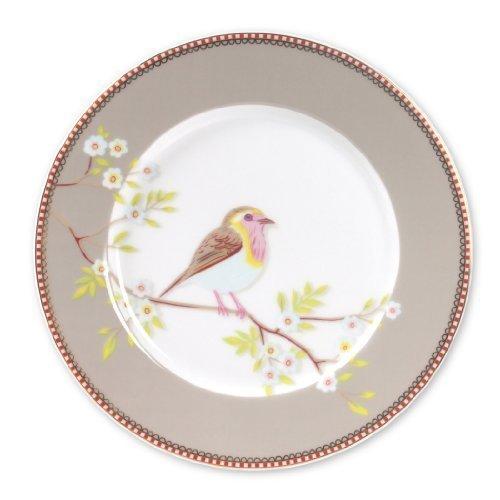 Pip Studio Early Bird Salatteller/Dessertteller aus Porzellan, 20,3 cm, Khaki
