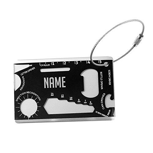 Herz & Heim® Multi Tool Anhänger mit Namensgravur im Scheckkartenformat