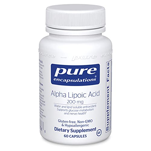 Pure Encapsulations Alpha Lipoic Acid 200 mg | ALA Supplement for Liver Support, Antioxidants, Nerve and Cardiovascular Health, Free Radicals, and Glucose Support* | 60 Capsules
