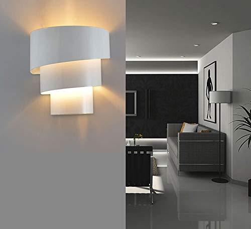 Rindasr Europese moderne spiraal smeedijzeren wandlamp, LED puur ijzer binnen creatieve slaapkamer nachtlampje, geschikt voor gangpad trap slaapkamer nachtkastje balkon