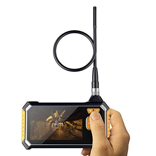 TYXS Cámara de inspección, cámara endoscopio 4.3 Pulgadas Pantalla Endoscopio Industrial Video semirrígido con 6 led cámara de Serpiente Impermeable