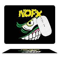 NOFX パンク・ロック マウスパッド ゲーミング ワイヤレスマウスパッド 耐久性に優れ 滑り止め 光学式マウス対応 両面 レザー 防水 耐洗い マウス おしゃれ 人気 厚い 疲労軽減 25.5*20.5cm