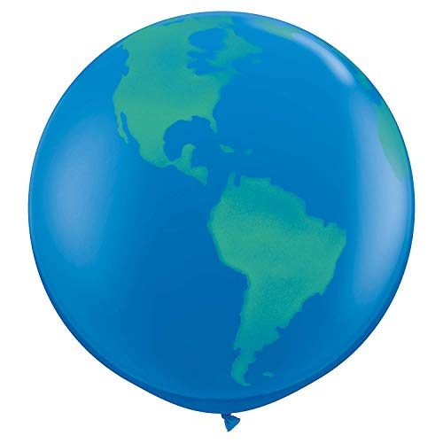 Folat - Ballon Planète Terre XL 90 cm – 2 pièces