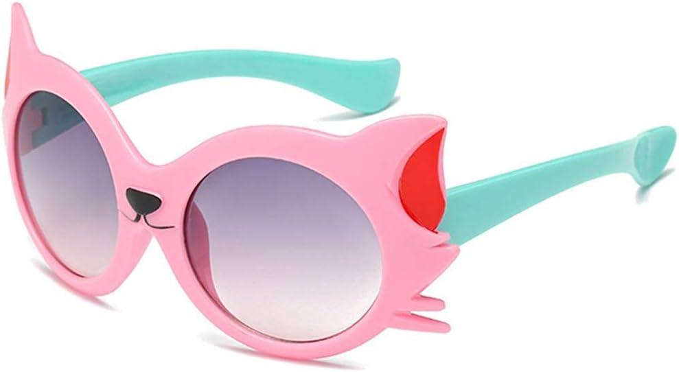 Kids Sunglasses UV400 Shades Sunglesses Girl Cat Decoration Sunglasses Rivet Reflective Eyewear for Children Sun Protection Spectacles Sports Eyewear Glasses