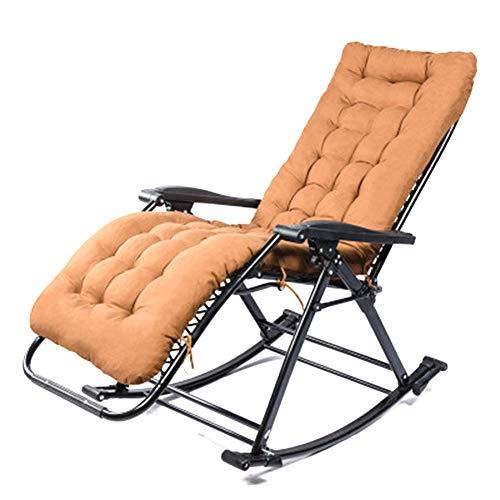 Klapp Schaukelstuhl Sofa - Lounge Mittagspause Nickerchen Stuhl, Balkon Nach Hause Freizeit Strand Tragbare Faul Schaukeln FüR Alte MäNner Relax Chairs
