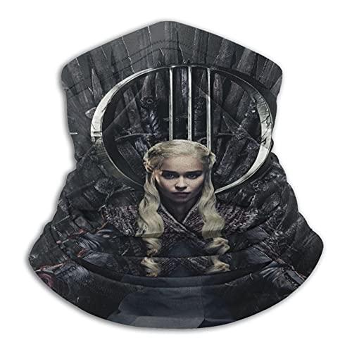 LoveOnHead Daenerys Targaryen, cubrebocas pasamontañas, bandana a prueba de polvo, corte UV, calentador de cuello ajustable para hombre y mujer