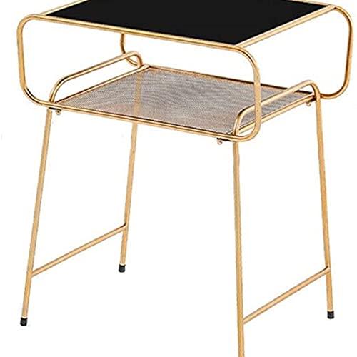 Tavolino da divano, Tavolini Nuovo Creativo Nordic Mini tavolino da caffè moderno minimalista casa camera da letto piccola in ferro battuto tavola comodino tavolini (colore: oro) ,Tavolino per soggior