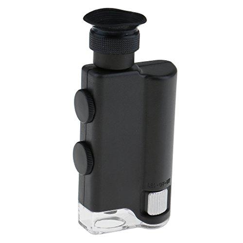 LED Taschen Mikroskop 200x - 240x Lupe Vergrößerungsglas Handlupe Juweliere Lupe