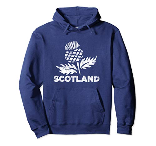 Retro Thistle Scottish Rugby | Scotland Rugby Football Top Pullover Hoodie