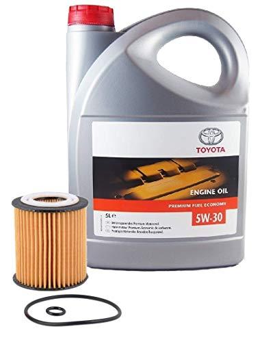 Duo Pack Motorolie Echt Toyota 5W-30 PFE synthetisch 08880-83389 C2 5 Liter + FRAM oliefilter CH10658ECO